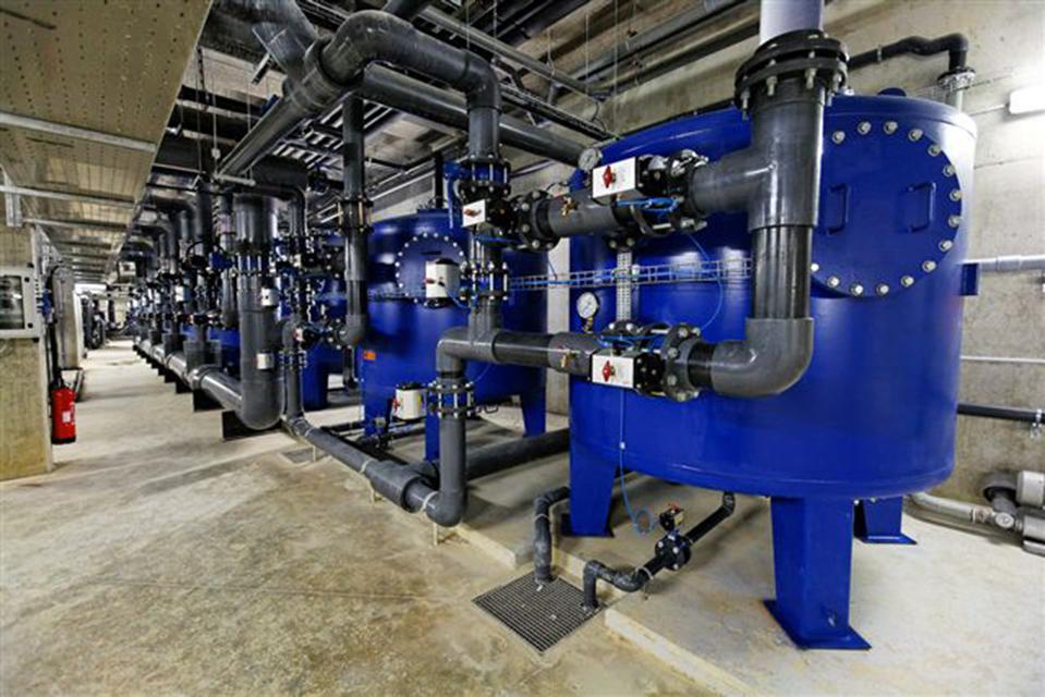Filtration centre nautique